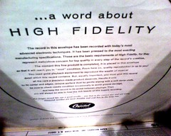 a word about high fidelity