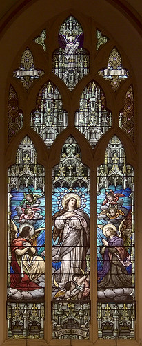 Visitation-Saint Ann Shrine, in Saint Louis, Missouri, USA - stained glass window 2