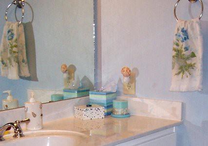 Bathroom after redecorating