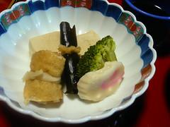 Naruto, brocoli, tofu, kobumaki