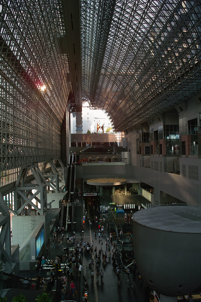 Kyoto Station in summer vacation season