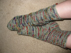 Diagonal rib socks by Ann Budd