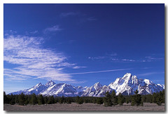 Sky blue (Ross Forsyth - tigerfastimagery) Tags: blue sky usa mountains clouds wyoming grandtetons cirrus grandtetonnationalpark