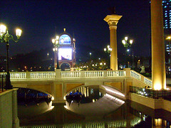 The Venetian Macau, Cotai Strip, Macau (thewamphyri) Tags: bridge water night canal casino gondola venetian macau macao   cotai over200views cotaistrip venetianmacau venetianmacao