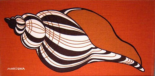Marushka - striped shell on orange