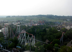 View of Front of the Park (CPShoeler86) Tags: wood storm wooden pennsylvania chocolate fahrenheit pa roller hershey wildcat runner coaster gci hersheypark intamin