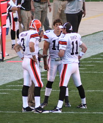 Quarterback Huddle (BGSU86) Tags: cowboys dallas cleveland nfl browns clevelandbrowns bradyquinn