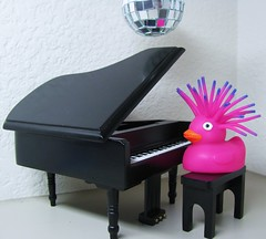 Rock me, AmaDeUCK! (zippythesimshead) Tags: music toys duck piano ducks rubberducky amadeus discoball rubberduck mozart rubberducks rubberduckies rockmeamadeus msh0908 msh090812