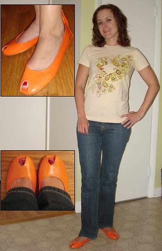 oranges shoes