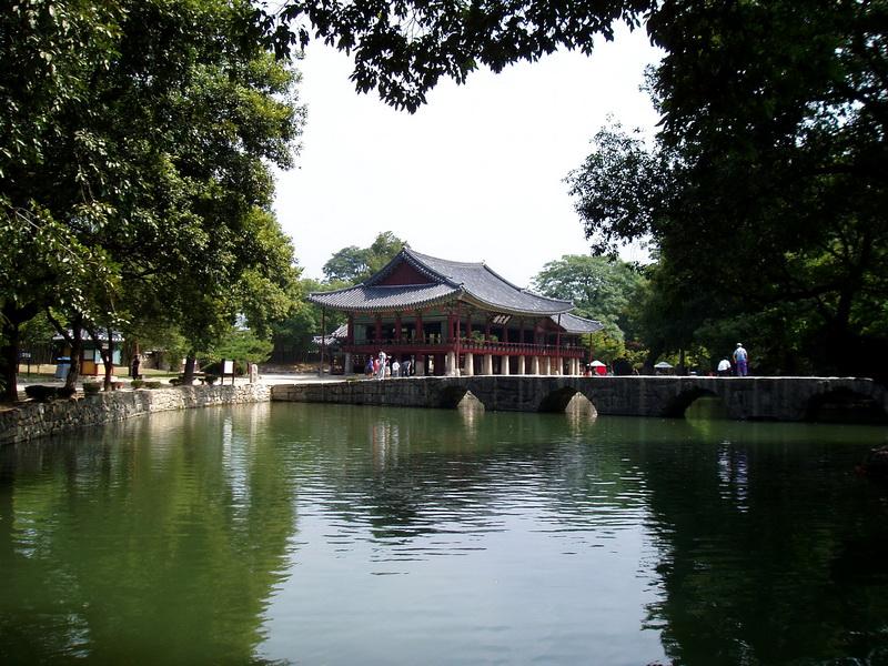 Gwanghallu Pavilion & Ojakkyo Bridge
