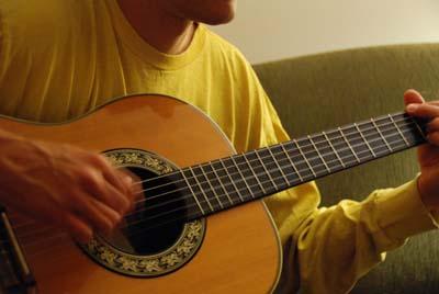guitar strummin