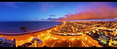 20th floor @ Sussex Heights (Pepeketua) Tags: uk pink blue sea panorama cloud west night photoshop canon sussex pier brighton long exposure hove sigma heights 1020 hdr 20th 10mm hugin hdrpanorama 400d hdrenfrancais hdratnight dphdr