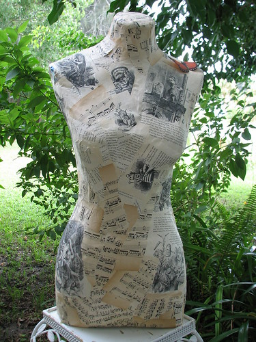 paper mache dress form