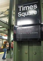Phone on Time Square Subway Station