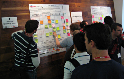 Barcamplondon5 Sessions Board