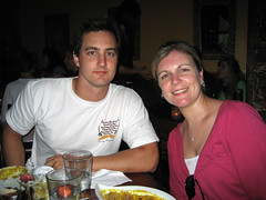 rob and page at dinner