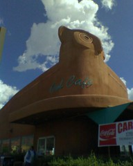 Owl Cafe, Albuquerque NM (worldslargestthings) Tags: newmexico architecture sca albuquerque owl roadside worldslargest mimetic owlcafe societyforcommercialarcheology