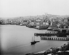 View from Signal Hill, St. John's, NL, about 1900 (Muse McCord Museum) Tags: canada newfoundland waterfront harbour basilica piers stjohns atlantic nl warehouses signalhill nfld thebattery premises wharves mccordmuseum musemccord