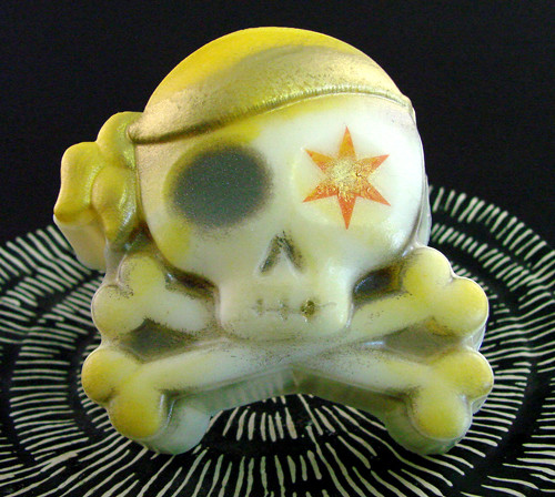 The above soap was made with our cute little Piratey Cross Bones mold.