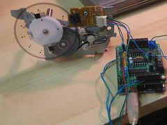 ink jet paper feed motor hooked up to arduino using PID control (Josh Kopel) Tags: motor arduino encoder quadrature motorshield