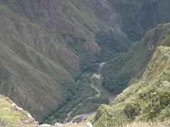 Urubamba River and Gorge, seen from Machu Picchu (lilDMented) Tags: peru inca ruins unesco worldheritagesite machupicchu abd oldmountain adventuresbydisney