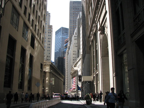looking toward Wall Street