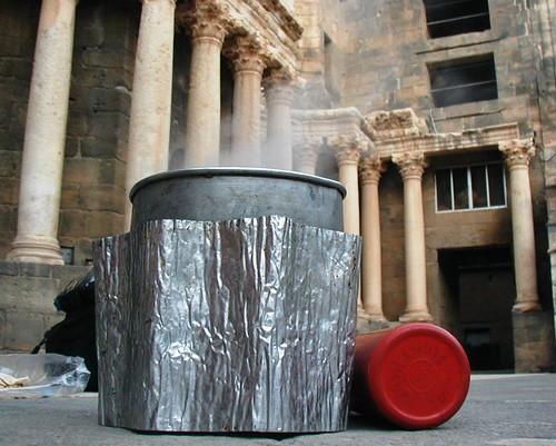 Camping in a Roman theatre
