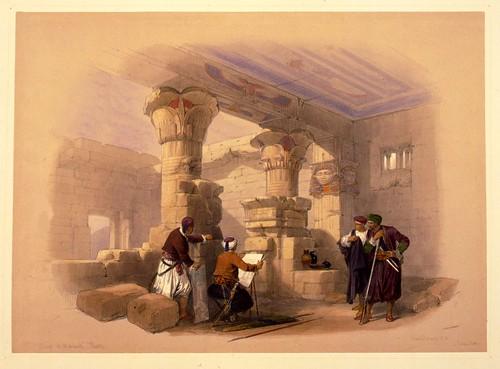 005 - Dayr el Medeeneh Tebas- Daniel Roberts-1846-1849
