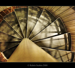 HDR - Spiral, Light and Shadow (*atrium09) Tags: light shadow luz stairs copenhagen spiral denmark bravo europe danmark sombras hdr escaleras dinamarca kbenhavn danemark mywinners