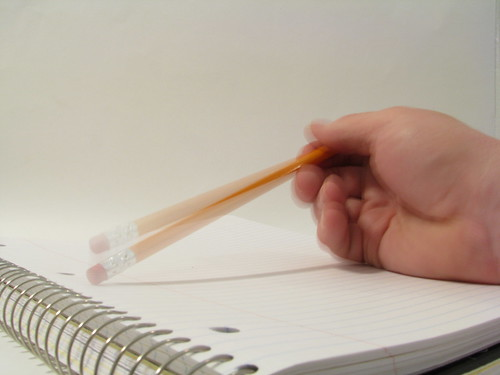 Image of tapping a pencil