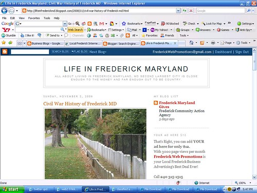 Frederick Maryland New WEB2.0 Portal Website