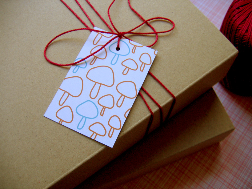 shroom gift tags
