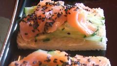 Salmon tea sandwich