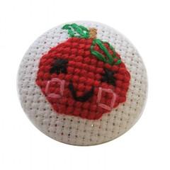 pinpals (goodegg industries) Tags: cute apple crossstitch pin handmade brooch goodegg