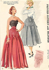 mccall's smocked skirt 1746, 1952 (carbonated) Tags: vintage sewing patterns 1950s mccall mccalls