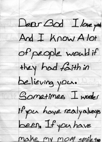 Cuddly Atheism A Burgeoning Atheist s Letter to God Age 6