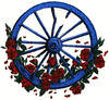 Grateful Dead wagon wheel and roses