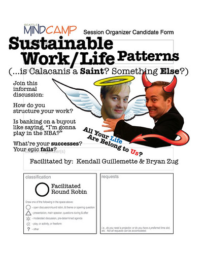 Seattle Mind Camp 5: Sustainable Work/Life Patterns