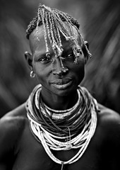 Karo woman, Korcho South ethiopia (Eric Lafforgue) Tags: africa woman black kara artistic dam african tribal hasselblad ornament blackpeople bodypainting ethiopia tribe ethnic rite karo barrage tribo indigenous necklaces adornment africain afrique pigments indigenouspeople tribu omo eastafrica thiopien etiopia ethiopie etiopa h3d ethnique tribalgirl lafforgue  etiopija ethnie ethiopi  ericlafforgue etiopien etipia  etiyopya  kolcho southethiopia nomadicpeople 06216 ericlafforguecom   tribalgirls  korcho abissnia   salinicostruttori    gibeiiidam gibe3dam bienvenuedansmatribu peoplesoftheomovalley