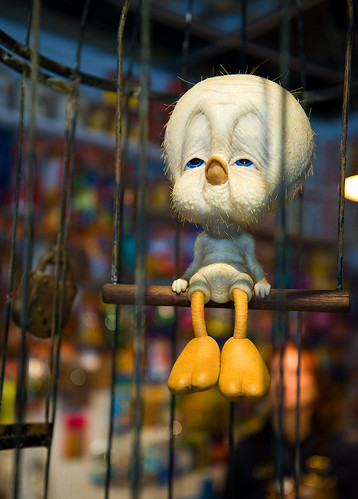 Tweety Bird in a cage