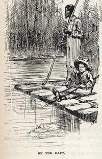 Characters - The Adventures Of Huckleberry Finn - Illustration Of Huck & Jim by Johnny Quixote