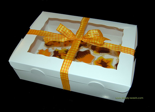 Fall leaves glace sugar cookies boxed
