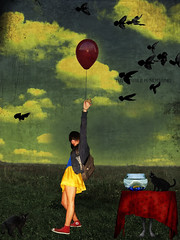 Impossible is Nothing (Helo Blue Sky*) Tags: girls light shadow fish birds clouds cat ballon anil helosa