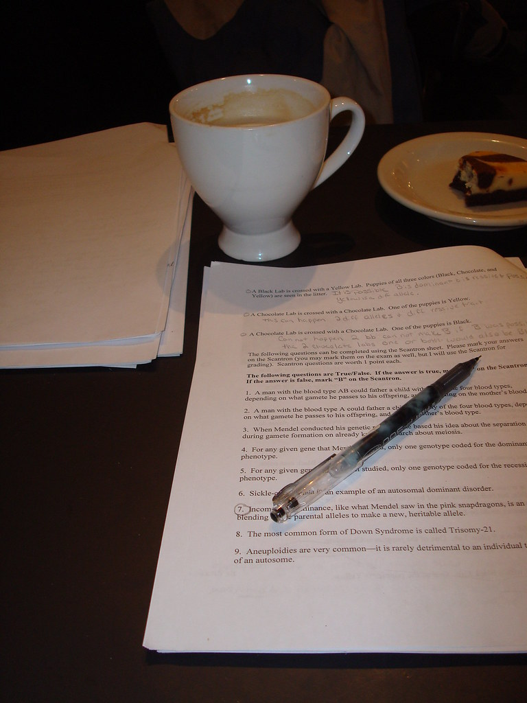 Exam Grading in the Coffeeshop