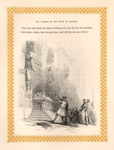003- El funeral del conde de Saldaña- detalle grabado a pie de pagina