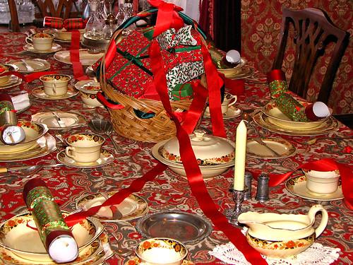 Traditional Christmas table setting, Fort Edmonton Park