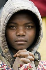 Religious Girl, Pygmy in Rwanda (Marie-Marthe Gagnon) Tags: africa portrait portraits holocaust dof bokeh expression tribal rwanda congo uganda drc famine pygmy bantu flickrchallengegroup flickrchallengewinner mariegagnon mariemarthegagnon pygmiesphoto photosofpygmies