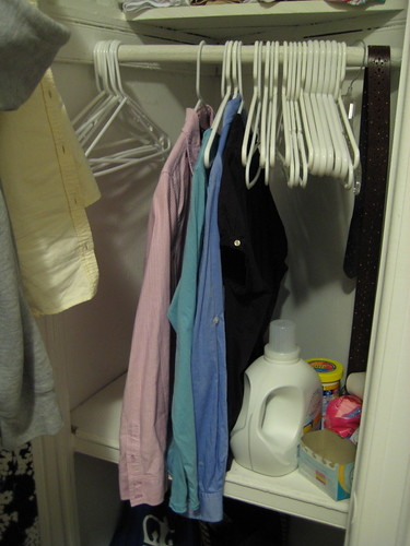 almost-empty closet
