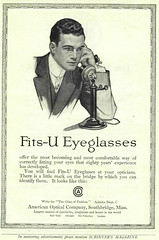 1913 American Optical Ad Fits-U Eyeglasses (pince_nez2008) Tags: nose glasses handsome eyeglasses eyewear pincenez noseclip