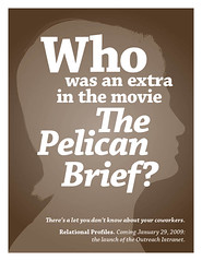 Who was an extra in the move The Pelican Brief?